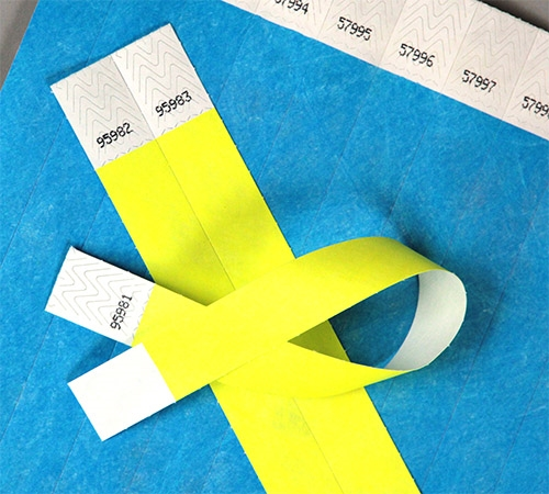 image relating to Printable Tyvek Wristbands referred to as Majority Wristbands for Activities - Group Regulate Paper Bracelets